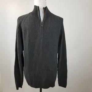 DKNY dark gray ribbed knit sweater Size L